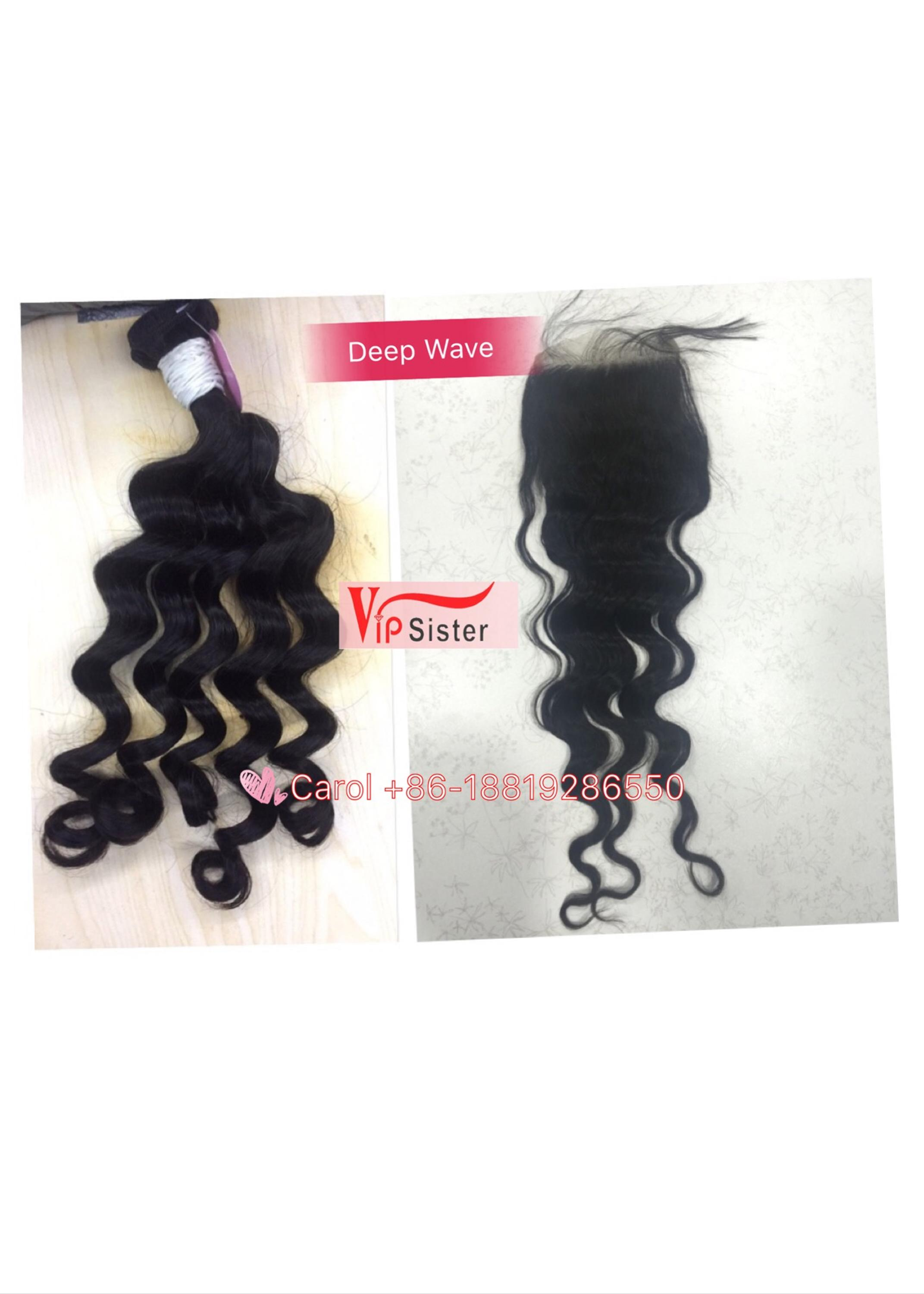 Vipsister Hair italian curly raw hair lace closure