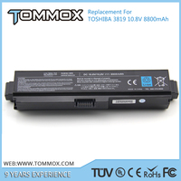 Tommox laptop battery pack cell price for toshiba pa3817u-1brs
