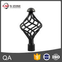 elegant wrought iron curtain pole finials for window decoration