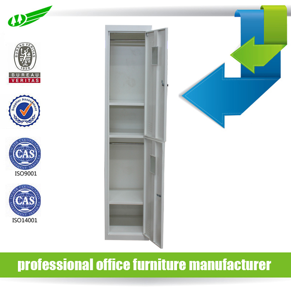 China supplier industrial metal storage cabinets / 2 compartment steel locker