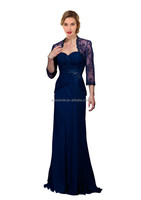 Plus size mother of bride lace dress with jacket Formal Evening dress Women Long Prom Party Gown