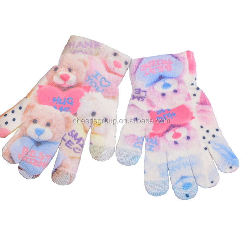 2016 New products fashion keep warm stretchable knit glove