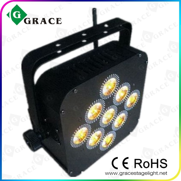 RGBWA+UV rechargeable battery led par can light 9*18W wireless DMX led up lights