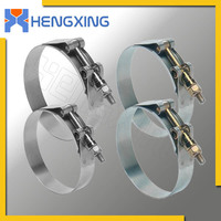 T bolt stainless steel heavy duty hose clamps 301
