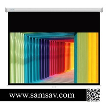 Projector Manual Screen With Metal Handle For Training Room