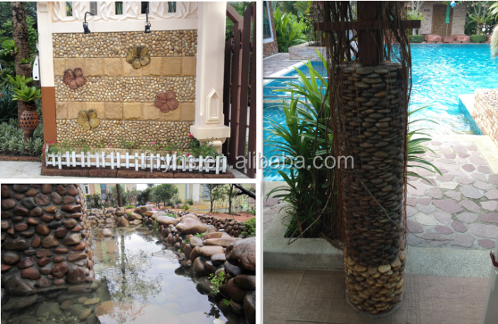 landscaping white pebble stone import