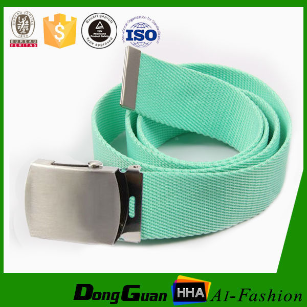 cotton canvas belt with stainless buckl by manufacturer