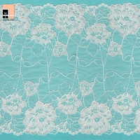 Wholesale china factory non elegant wholesales stretch fabric white non-stretch lace trim