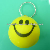 anti stress 4cm smiley face PU ball keychain