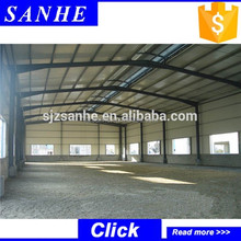 China made prefabricated steel structure storage shed/warehouse/workshops building