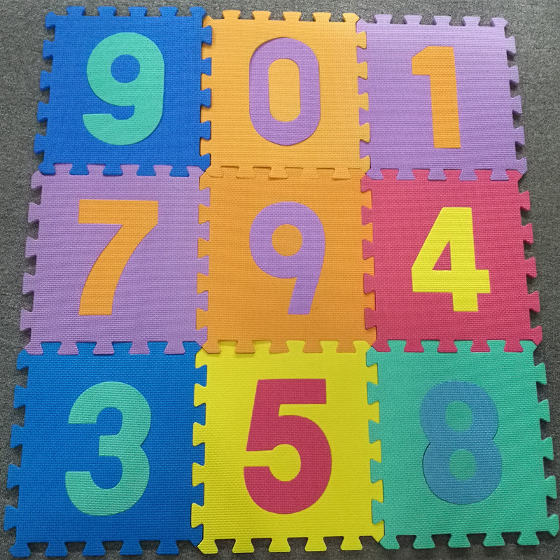 Baby Foam Play Mat (36-Piece Set) 5x5 Inches Interlocking Alphabet and Numbers Floor Puzzle Colorful EVA Tiles Girls, Boys Soft,
