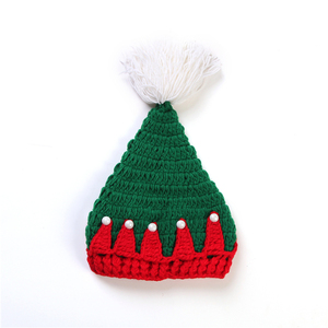 Baby knitted christmas hat with pom pom