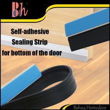 Self Adhesive Sealing Strip Rigid PVC Bar Flexible Rubber Tape Wooden Door Bottom Sweep Draught Excluder Frame Seal Weatherstrip
