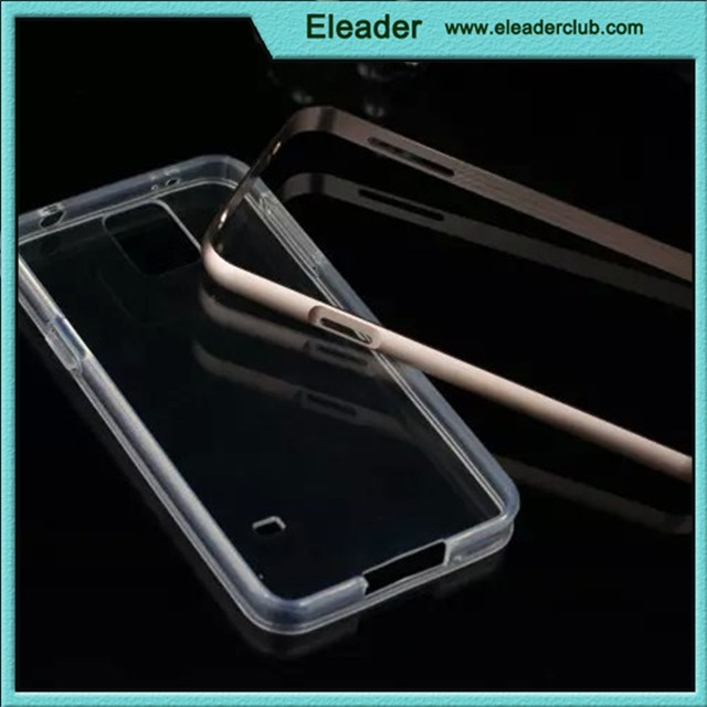 for samsung galaxy s5 aluminum transparent bumper cover