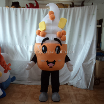 Hola yellow delicious frozen yogurt costume/mascot costume