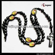 Black Wooden Beads Men's Rosary