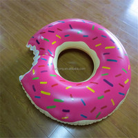Wholesale 2017 new colorful Donuts inflatable swimming ring and laps