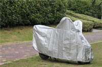 170t polyster coated silver super antii-uv motorcycle cover at factory price