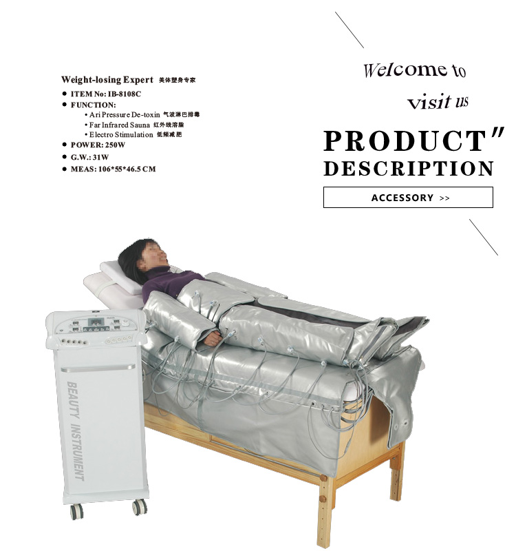 air compression air detoxin weight loss pressotherapy machine