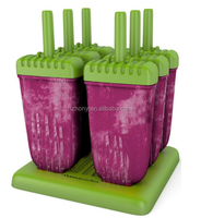 Popsicle Molds Ice Pop Maker Quality 6 Pieces BPA Free Clearance Sale ice mold