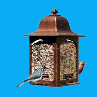novelty cusotmized decorative garden lantern bird feeder