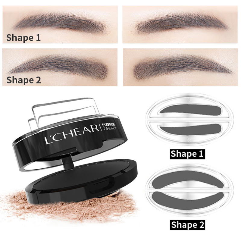 LCHEAR Hot Sales 3 Colors Eyebrow Stamps Easy Apply Long Wear In Stock Cosmetics Manufacturer