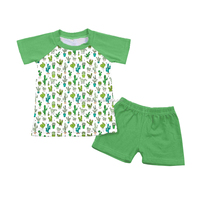 Wholesale boy clothing set 2pcs short sleeve t=shirt and matching shorts made in china