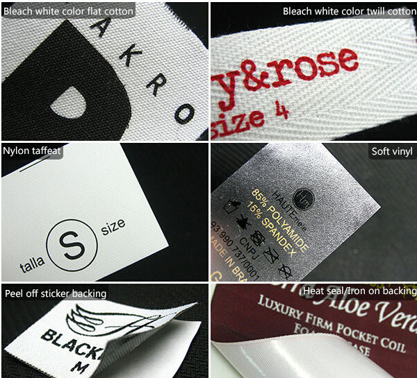 Custom heat transfer label,price garment tag,fashionable clothing size label