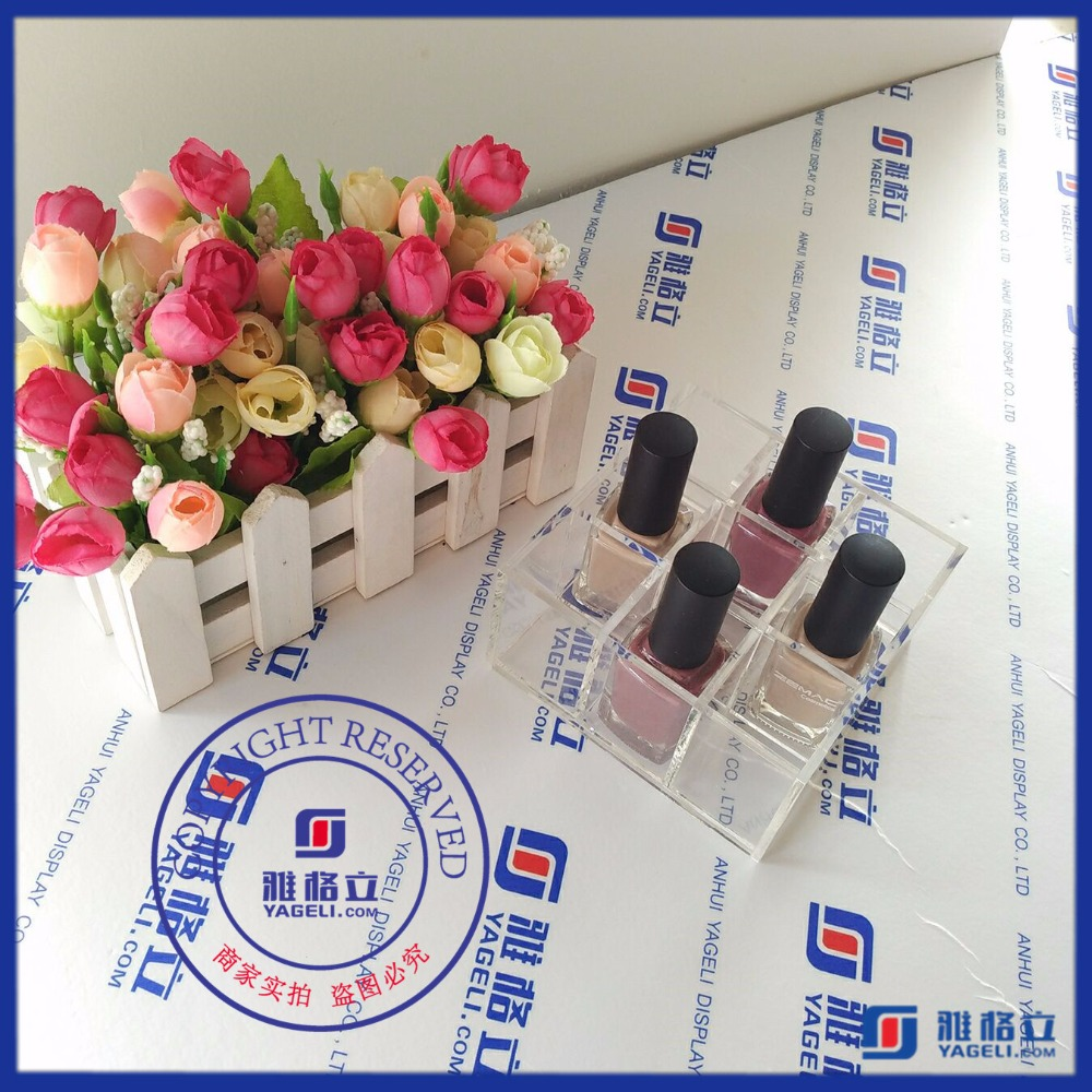 The environmental acrylic production nail polish display floor stand for factory price