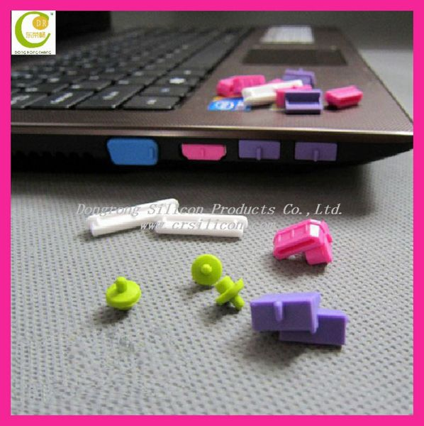 Creative New Fashion Cheap Price Connector Silicone Dustproof Computer Plug Stopper Cap for macbook pro/air