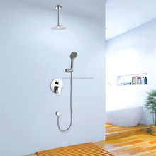 Polish Surface Treatment Hot and Cold Brass Shower Mixer with Round Shower Head