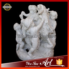 Outdoor Stone Children Sculpture Marble Angel Statue