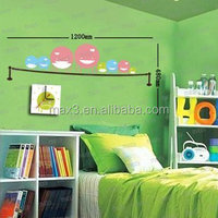 2016 New Arrival Removable Home Decor Wall Sticker Clock Kits For Children Room
