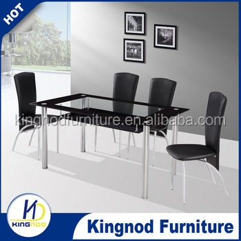 waterproof dining table 4 seater glass dining table design modern dining room furniture table and chair for sale