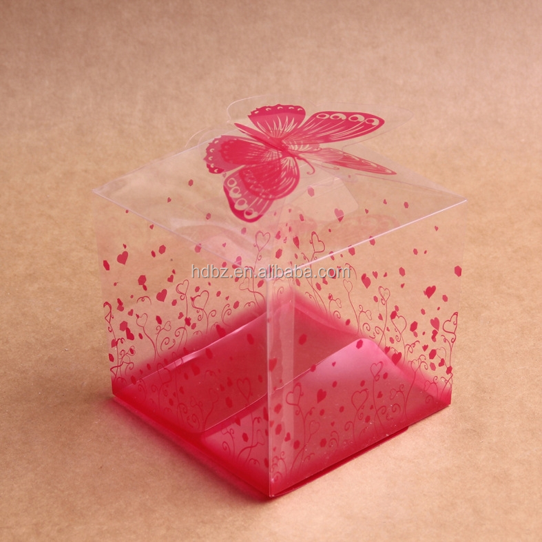 custom clear plastic favor box gift for wedding favor