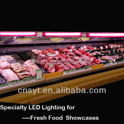 super marketing goods shelf 8ft pink led meat tube