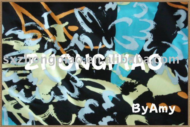 Printed lycra fabric for swimwear
