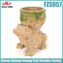 Animal Shaped clay pots for plants