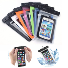 Factory direct sale swimming mobile phone waterproof bag, IPX8 universal hanging waterproof phone pouch