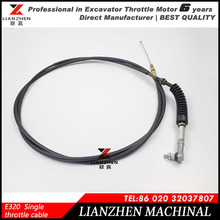 Excavator parts single throttle motor cable for CAT E320