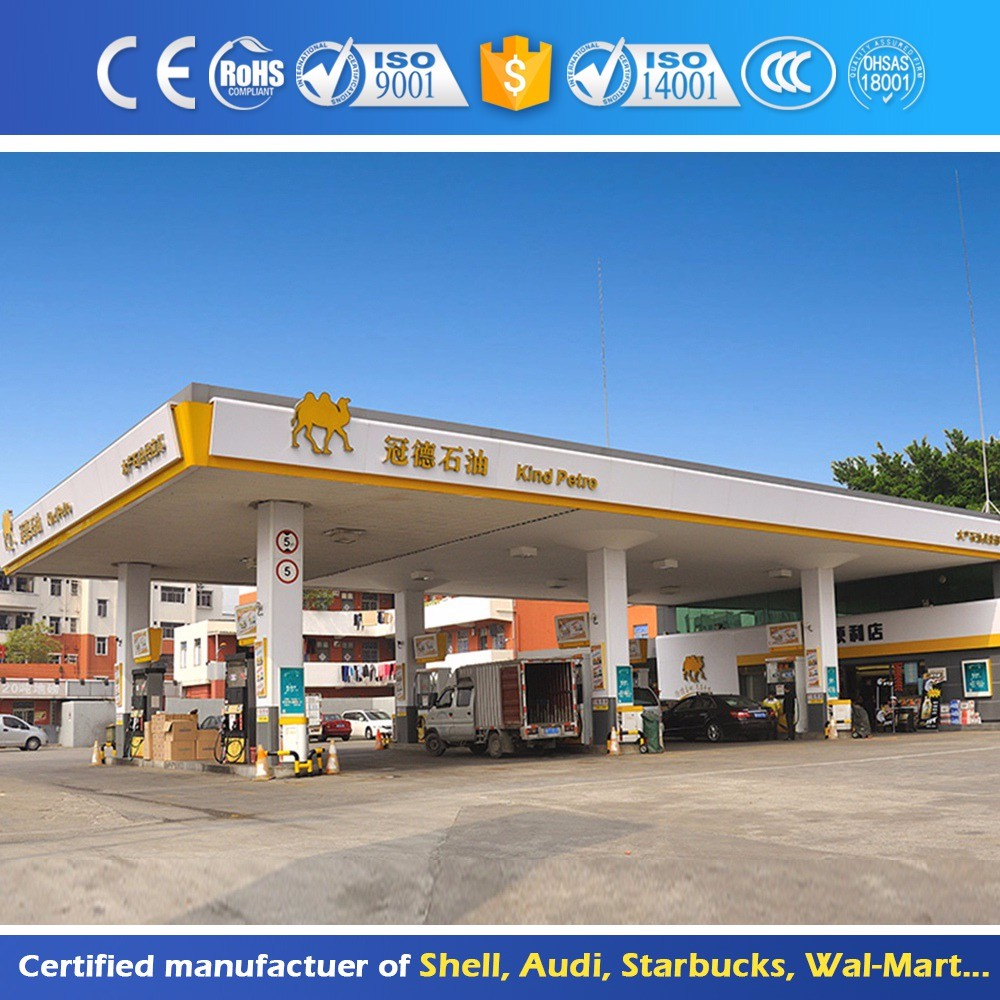 Waterproof Outdoor Gas Station Canopy Metal Roof
