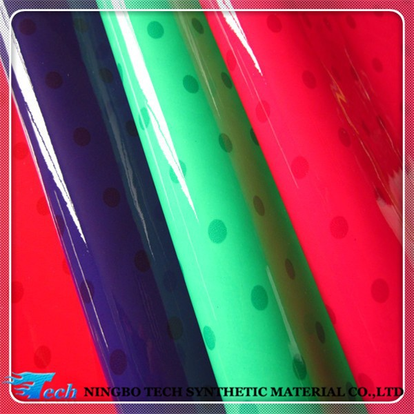 pu raw material for bags, pu patent leather for cosmetic bags (pu cuero sinteticos para zapatos)