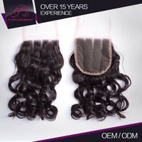Attractive And Durable Authentic 100% Natural Human Hair Ideal Hair Arts Virgin 6A Curly Closures