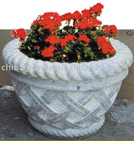 garden natural surface stone flower pots granite planter