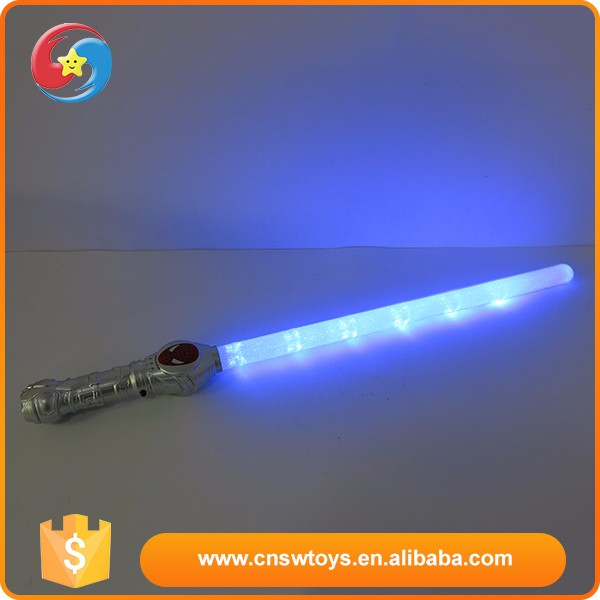 Promotional plastic kids toy super quality led sword flash toy