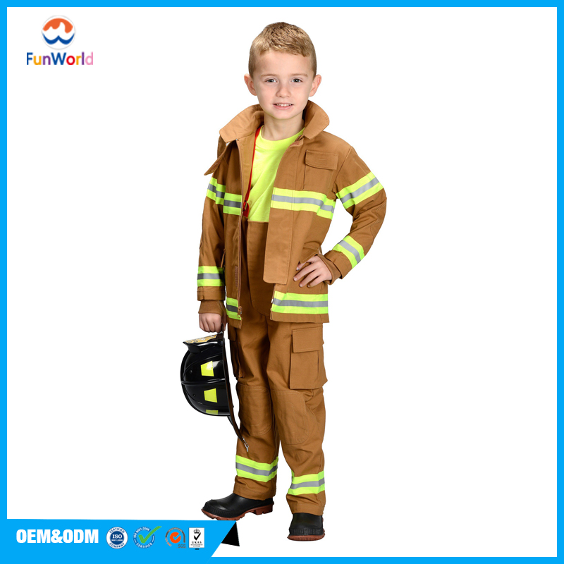 Halloween children cosplay dress kids firefighter costume