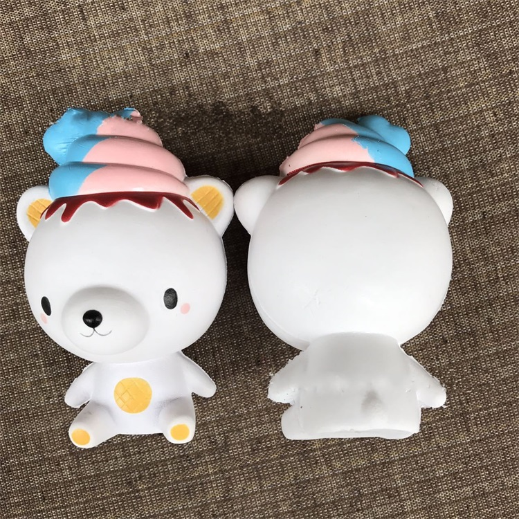 Pressure Relief Toys Lmitation Cake Ice Cream Bear Decoration Squishy