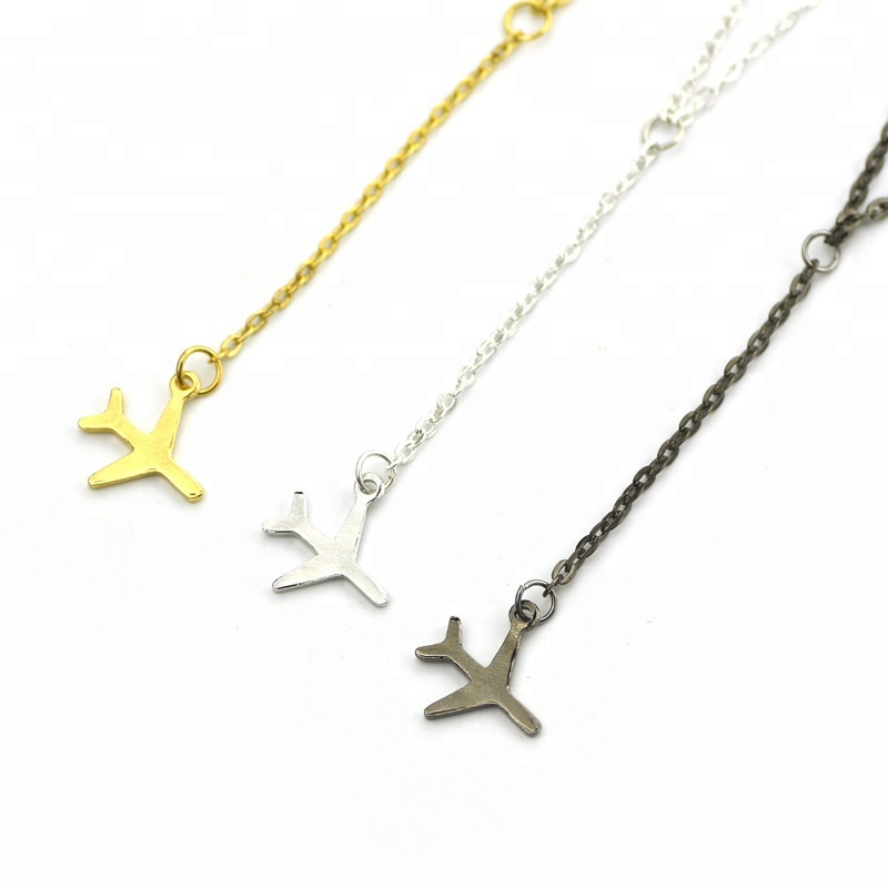 Wholesale Alloy Chain Pendant Little Airplane <strong>Necklace</strong>