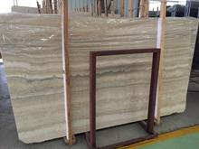 Natural italian silver travertine marble slab