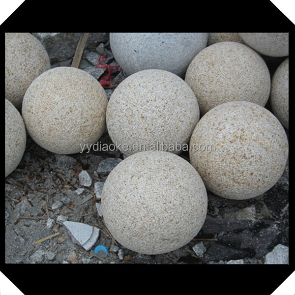 Yellow marble decorative stone ball buy